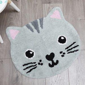 alfombra gato