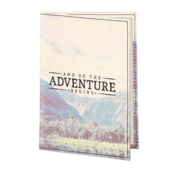 Funda pasaporte Aventuras