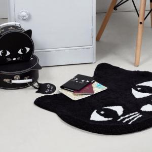 Funda pasaporte Gato negro
