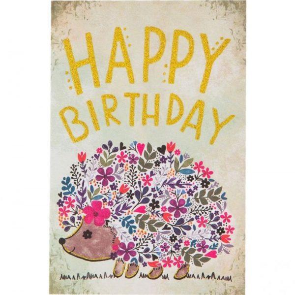 tarjeta happy birthday erizo