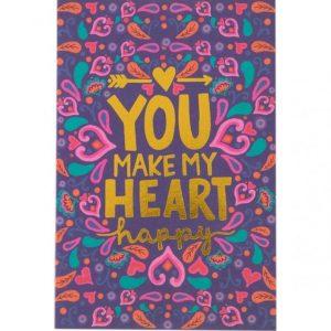 Tarjeta you make my heart happy