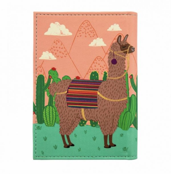 Funda pasaporte Llama