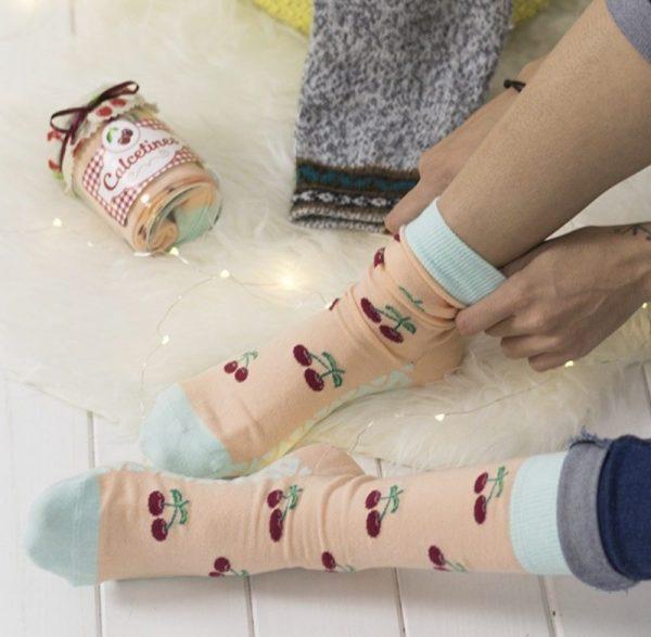Calcetines Mermelada Cerezas2