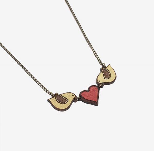 collar pajaritos corazón1