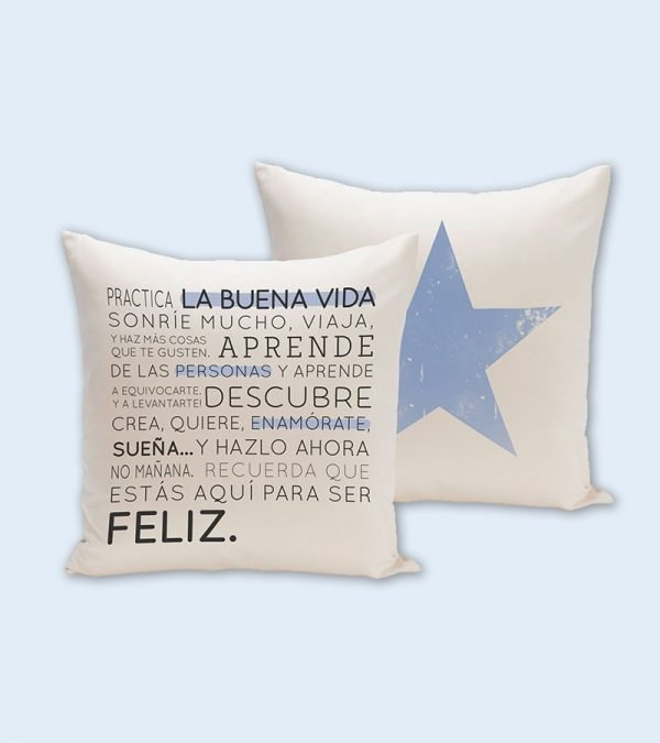Funda cojín Buena Vida1