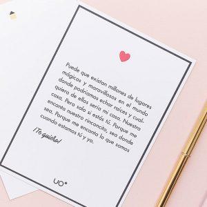 Tarjeta Te Quiero