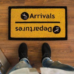Felpudo Salidas y llegadas